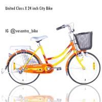 stok terbaru. sepeda mini 24 inch united. dilengkapi keranjang