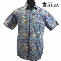 Harga batik huza kemeja pria motif kontemporer | Hargalu.com