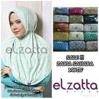 Bergo Hijab Instan Zaria Sahara Motif Elzatta Original Best Quality
