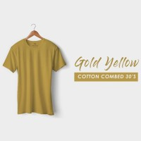 New Item! GOLD YELLOW KAOS POLOS COTTON COMBED 30s Sale!