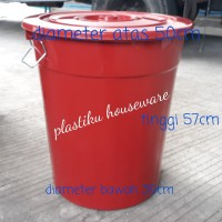 (GO SEND)Ember besar plastik jumbo murah 80L /tong air / bak air warna