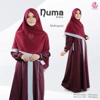 Gamis Yasmeera Numa dress series Mahogany
