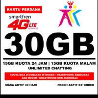 Perdana smartfren quota 30gb buat semua device modem maupun hp 4G