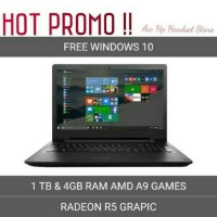Laptop Lenovo Ideapad 110 14AST RAM 4GB HDD 1TB AMD A9 REDEON R5