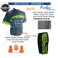 Set/ Setelana Baju Dan Celana Ada Padding Bokong Sepeda Arcebis Jersey