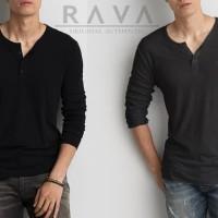Harga baju kaos pria henley lengan panjang original by rava best seller | antitipu.com