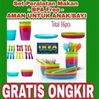 Jual Set Lengkap Perlengkapan Makan Anak Bpa Free Aman Utk Bayi Ikea Kalas Murah