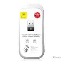 Baseus USB Male to Type-C Female Adapter Converter OTG 2.4A Aluminum