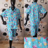 Harga baju tidur piyama celana pendek wanita katun unicorn kuda poni   Pembandingharga.com