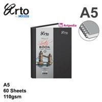 Arto A5 Wire-O Hard Cover Sketch Book 110gsm /Sketch Book ARTO Wire-O