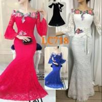 TERLARIS Gaun panjang terompet LC718 dress pesta untuk orang bisa unt