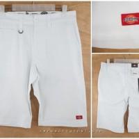Celana Pendek Dickies Flat Front Work Pant Original - White