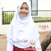 Jilbab seragam sekolah putih, coklat Pramuka usia 6 - 9thn