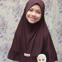Jilbab coklat Pramuka Sekolah SD usia 9 - 11thn terlaris