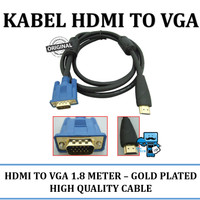 Kabel HDMI to VGA 1,8 Meter Gold Plated - Original