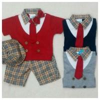 Pakaian Bayi Laki-Laki Baju & Sepatu Setelan Anak Laki Lucu 2 AGB4025