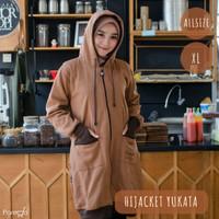 Jaket Hijab Hijacket Yukata Brown Original | Jaket Muslimah Premium