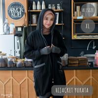 Jaket Hijab Hijacket Yukata Black Original | Jaket Muslimah Premium