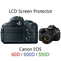 Anti gores LCD Screen Protector Guard Kamera Canon EOS DSLR 60D 600D
