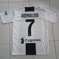 Jersey Juventus C. Ronaldo - Kaos Home Juventus New Season Full Patch