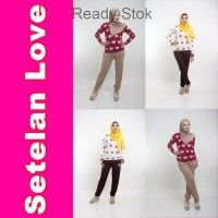 SETELAN LOVE baju wanita dewasa masa kini