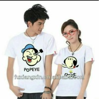 AFFOENG BARANG SUPER LARIS EN-CP POPEYE AND OLIVE WHITE cow fit to XL