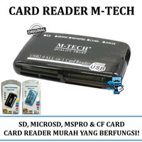 Card Reader USB All in One M-Tech - SD, MMC & CF Card