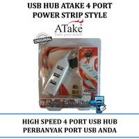 USB Hub 4 Ports Atake - Power Strip Style, High speed