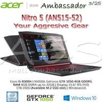 Acer Nitro 5 AN515-52 | Core i5-8300H | GTX1050 4GB | 8GB | 1TB | W10