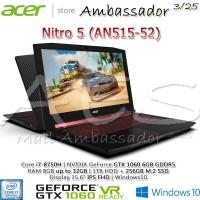 Acer Nitro 5 AN515-52 Ci7-8750H|GTX1060 6GB|8GB|256GB SSD+1TB|Win10
