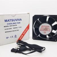 MATSUVIVA Cooling Fan AC 220V ukuran 12 x 12 x 3.8 cm / kipas