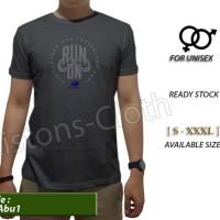 Jual Kaos distro new balance nb run lari abu 1 tshirt branded pria ba