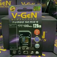 V-gen Micro SD Vgen 128GB Class 10 TURBO SERIES + Adaptor Memory Card