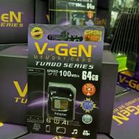 V-gen Micro SD Vgen 64GB Class 10 TURBO SERIES + Adaptor Memory Card