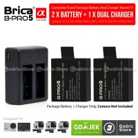 Complete Set Baterai / Battery Charger Original Brica B-PRO 5 AE