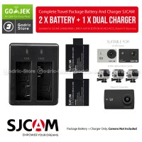 SJCAM Complete Set Baterai / Battery Charger for Xiaomi YI DISCOVERY