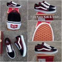 6e1873e8524dda Sepatu Vans Old Skool Anaheim Factory Black Burgundy Premium BNIB