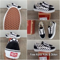 f3cf18a2916e85 Sepatu Vans Old Skool Checkerboard Black White Premium Quality BNIB