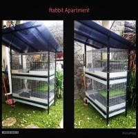 Rabbit apartment. Kandang galvanis untuk kelinci dan small animal