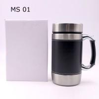 Mug Kantor Gelas Teh / Kopi Panas Stainless Souvenir Promosi MS 01