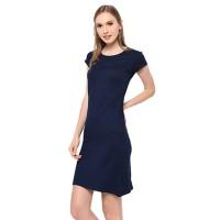 Lemone Tshirt Dress Cewe Spandek Premium Baju Wanita 510PS101904 Navy