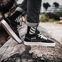 Vans Half Cab High Skate Black White Sepat Sneakers Jalan Pria