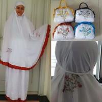 Mukena Parasut Super / Mukena traveling khusus putih