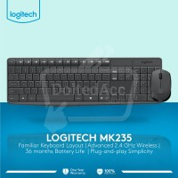 Logitech Keyboard Mouse Wireless Combo MK235 garansi resmi/original