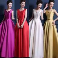 SALE 4 pc BRDMASL89 Gaun Baju Pesta Pengapit Pengantin Bridesmaid Maxi