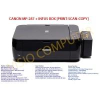 [Murah] Printer Canon MP287 infus Box Elegant. Print, DA11