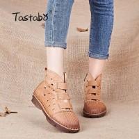 96Tastabo Kulit Wanita Sepatu Buatan Tangan Kasual kulit Asli Sepatu K ad98db730d