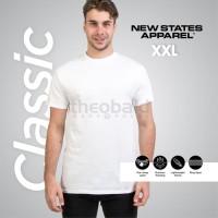 Kaos Polos New States Apparel Classic 2600 ( WHITE, SIZE S - XL )