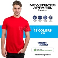 New States Apparel Premium Cotton T-shirt 7200 (COLOR, SIZE 2XL)