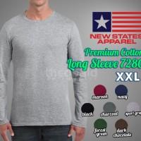 New States Apparel Premium Cotton Lengan Panjang (COLOR, SIZE XXL)